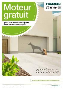 Promo Harol : le moteur est gratuit sur les portes de garage sectionnelles - Disponible chez Renov'&Store, votre spécialiste Harol à Tournai