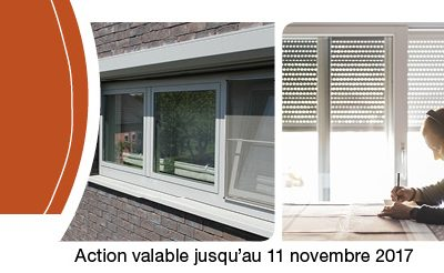 Promo Harol : fortes réductions sur les volets roulants en automne - Disponible chez Renov'&Store, votre spécialiste Harol à Tournai jusqu'au 11 novembre inclus