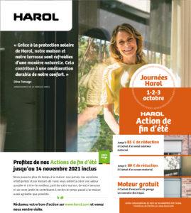 Harol et Renov'&Store vous offrent de nombreuses réductions l'achat de vos portes de garage, stores bannes ou solutions vivre dehors jusqu'au 30 août 2021